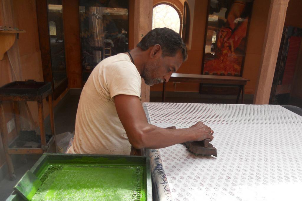 Artisan hand block printing