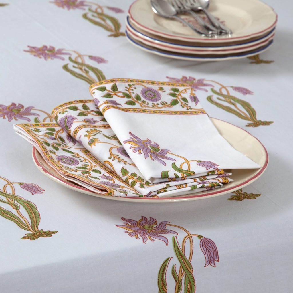 MarigoldStyle Indian table linens - Florence-Gina design