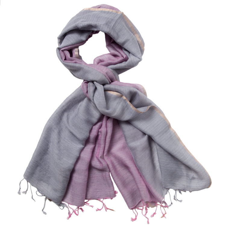 MarigoldStyle wool-silk Jewell scarf - blush-gray