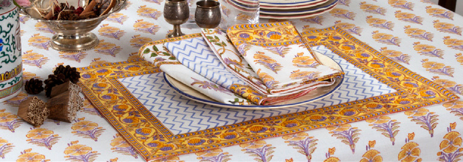 MarigoldStyle Juhi placemats and napkins