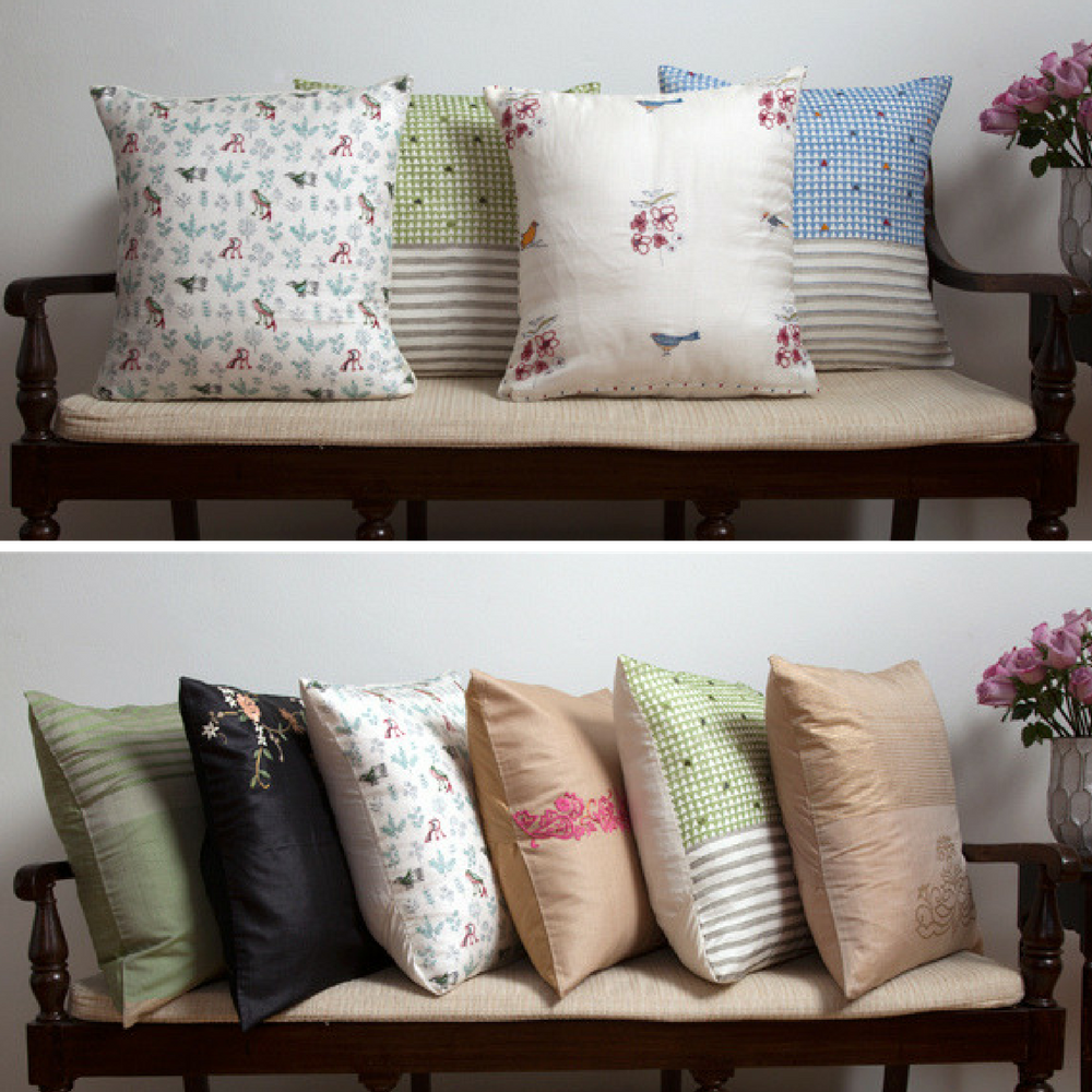 MarigoldStyle silk and silk-cotton pillow covers