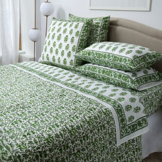 Aria Riya Bedding Collection   Green