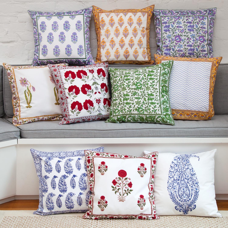 Handmade Indian Pillow Covers New York Marigold Living