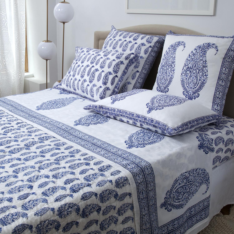 Malabar Paisley Bedding Collection Deep Blue Marigoldliving Com