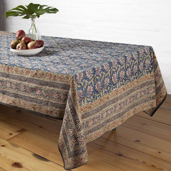 Pineapple Tablecloth   Teal